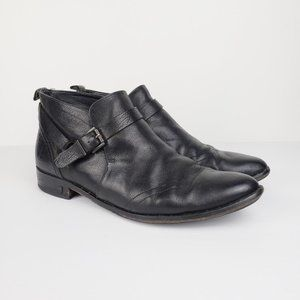 Freda Salvador pull on buckle ankle boots 10